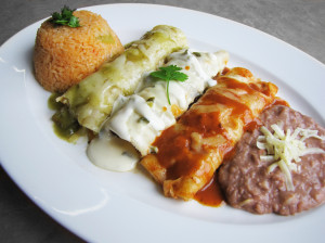 Chicken Enchiladas, Acapulcos Mexican Family Restaurant, MA and CT